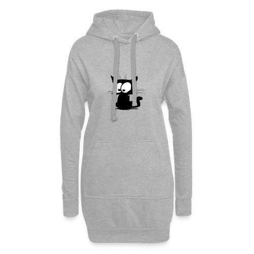 Black Cat 01 - Sweat-shirt à capuche long Femme