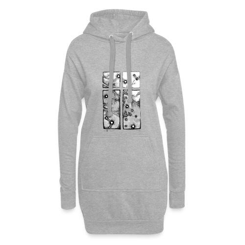 Für immer und ein Tag (grau) - Hoodie-Kleid