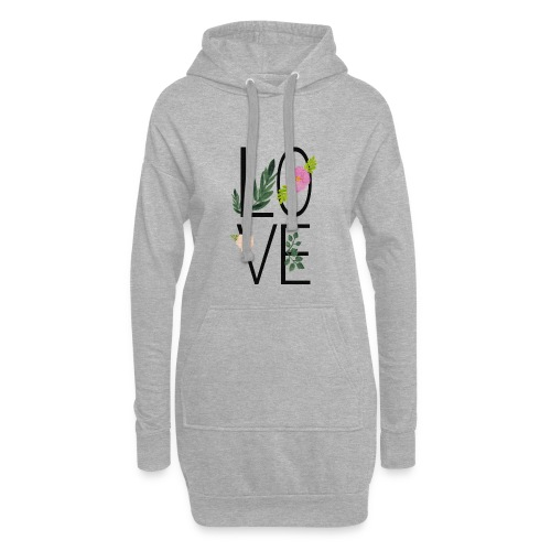 Love Sign with flowers - Hoodie Dress