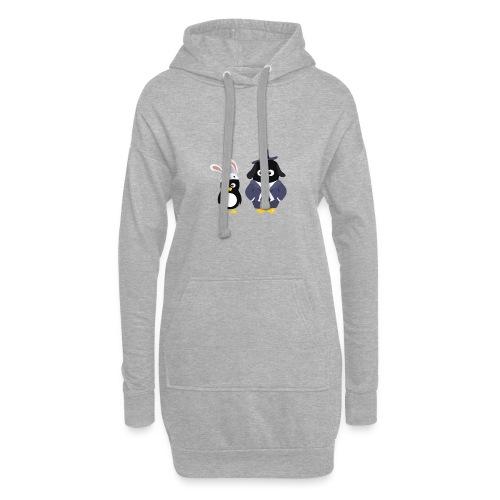 Pingouins and Max - Sweat-shirt à capuche long Femme