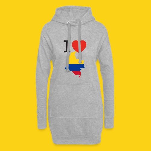 I love Colombia - Vestitino con cappuccio