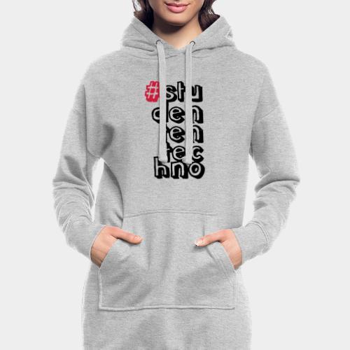 #studententechno (groß) - Hoodie-Kleid