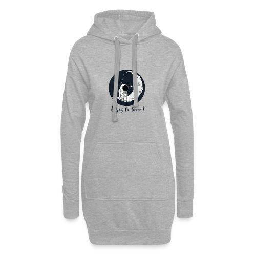 Visez la lune ! - Sweat-shirt à capuche long Femme