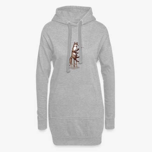 The Fox At the Bar - Hoodie Dress