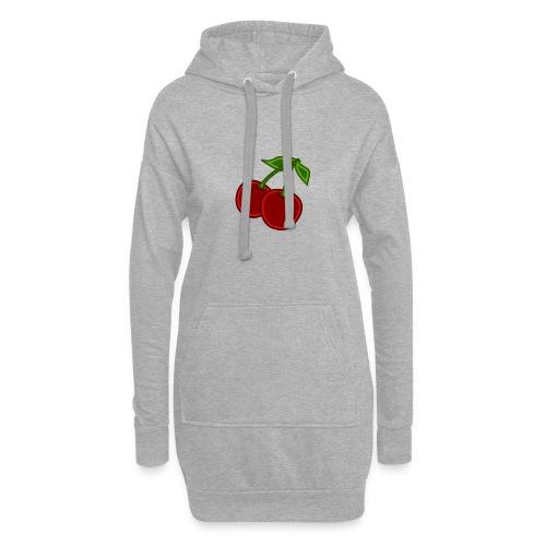 cherry - Długa bluza z kapturem
