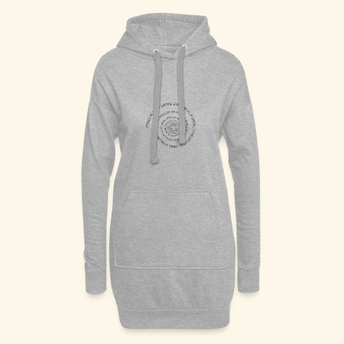 SPIRAL TEXT LOGO BLACK IMPRINT - Hoodie Dress