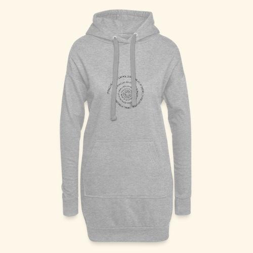 SPIRAL TEXT LOGO BLACK IMPRINT - Hoodie Dress