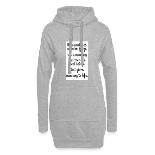 Phrase d'amour en anglais - Sweat-shirt à capuche long Femme