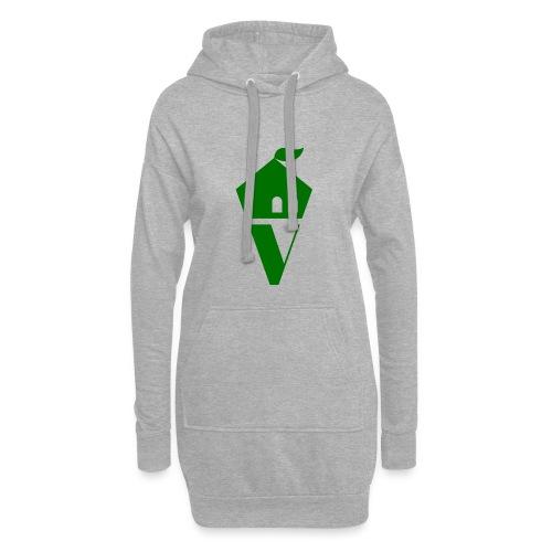 Villekula Logo in Grün auf Schwarz - Hoodie-Kleid
