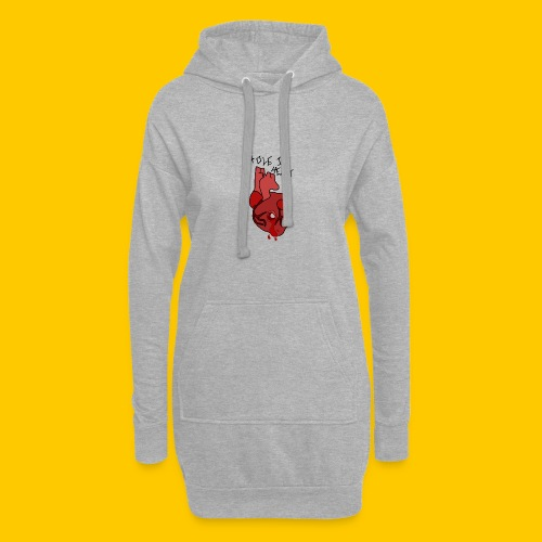 Hole.. Heart. - Hoodie Dress