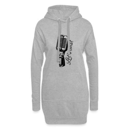 Mikrofon - Hoodie-Kleid