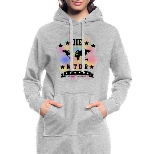 Die Welt mit dir bunt weiss - Klamottendesigns - Hoodie-Kleid
