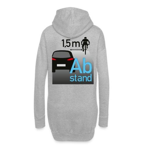 Auto zu Radfahrer - Abstand halten mind. 1,5m - Hoodie-Kleid