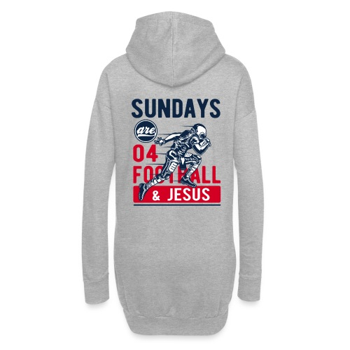 Sany O. Sundays Are For Football And Jesus - Hoodie-Kleid