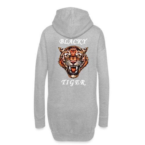 Blacky Tiger Design in Tattoo-Optik - Hoodie-Kleid
