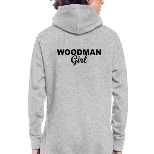 WOODMAN Girl, black - Hoodie-Kleid