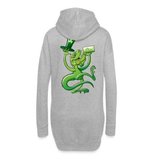 Saint Patrick's Day Iguana - Hoodie Dress