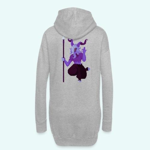 666 - Sweat-shirt à capuche long Femme
