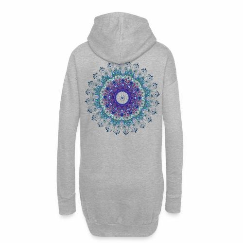 Mørk lilla mandala - Hoodie-kjole