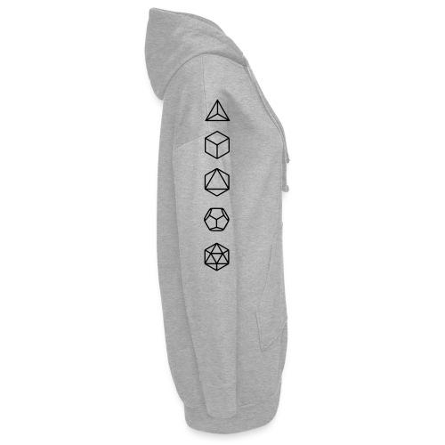 Platonische Körper Bausteine des Lebens Elemente - Hoodie-Kleid