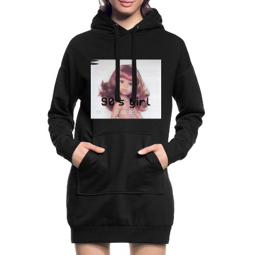 90 girl - Sudadera vestido con capucha