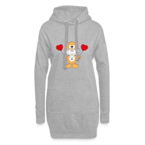 Lustiger Hamster - Herzen - Luftballons - Liebe - Hoodie-Kleid
