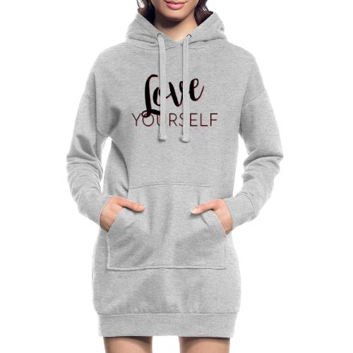 Love Yourself -Schriftzug Pascal Voggenhuber - Hoodie-Kleid
