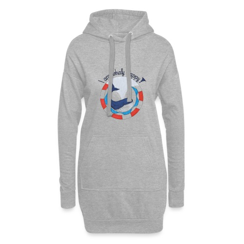 I am whaly happy! - Hoodie-Kleid