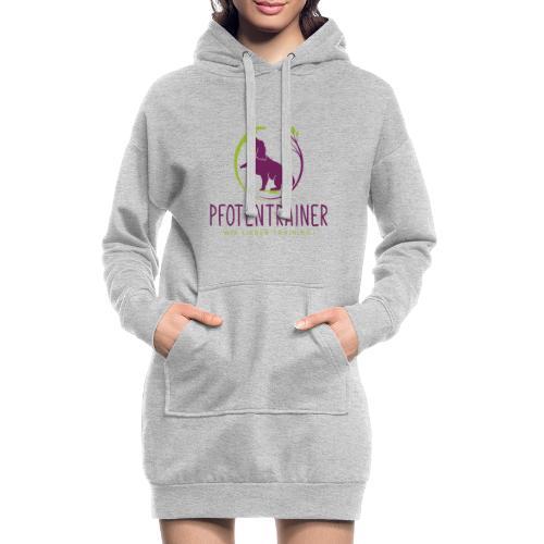 Pfotentrainer_groß - Hoodie-Kleid