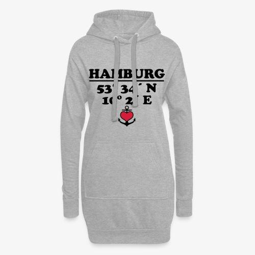 HAMBURG Koordinaten Anker 2c A / Längengrad - Hoodie-Kleid