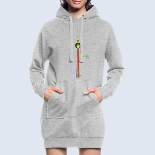 "Berliner Original ""Fernsehturm"" PopArt Design - Hoodie-Kleid"
