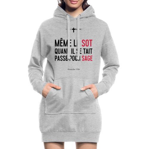 Sage - Sweat-shirt à capuche long Femme