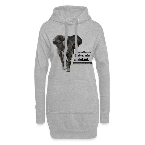 Niemand braucht Elfenbein, außer ein Elefant! - Hoodie-Kleid