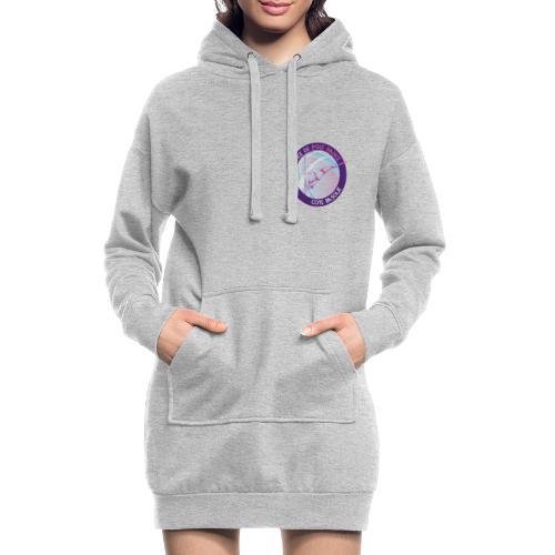Logo poledance violet - Sweat-shirt à capuche long Femme