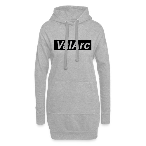 ValArc Text Merch Black Background - Sweat-shirt à capuche long Femme