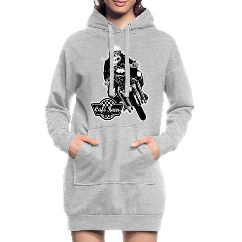 Café Racer - Sudadera vestido con capucha