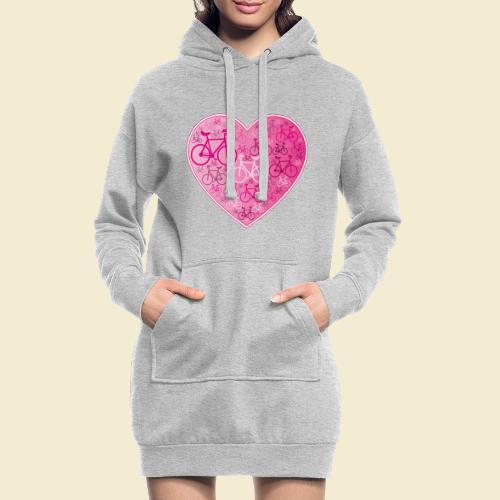 Kunstrad | Mein Herz rosa - Hoodie-Kleid