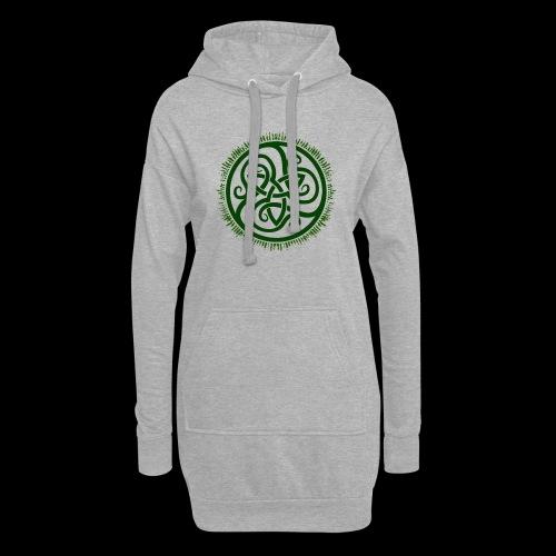 Green Celtic Triknot - Hoodie Dress