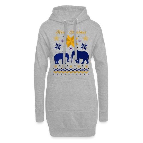 Merry Christmas I Elefanten - Hoodie-Kleid