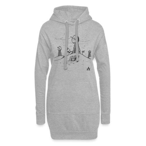 ligne de base arctique croquis - Sweat-shirt à capuche long Femme