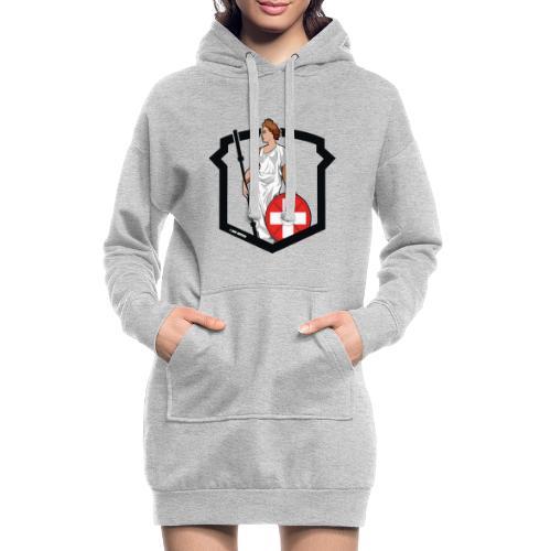 Helvetic Weightlifting Girl - Hoodie-Kleid