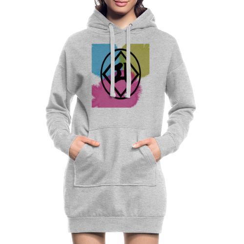 Logo Japones color - Sudadera vestido con capucha