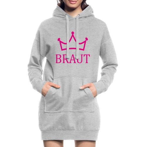 Braut Krone pink Junggesellinnenabschied - Hoodie-Kleid