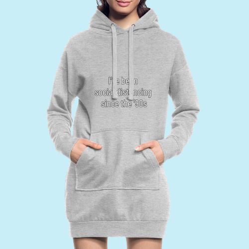 distanciation sociale - Sweat-shirt à capuche long Femme