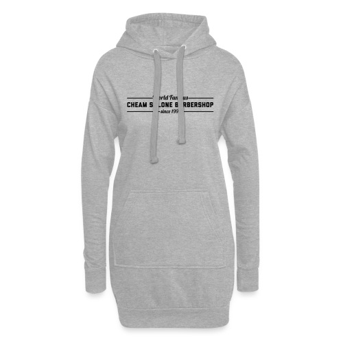 Barbershop black on white. - Hoodie Dress