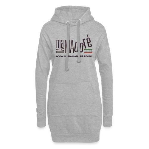 T-Shirt - Donna - Logo Standard + Sito - Vestitino con cappuccio