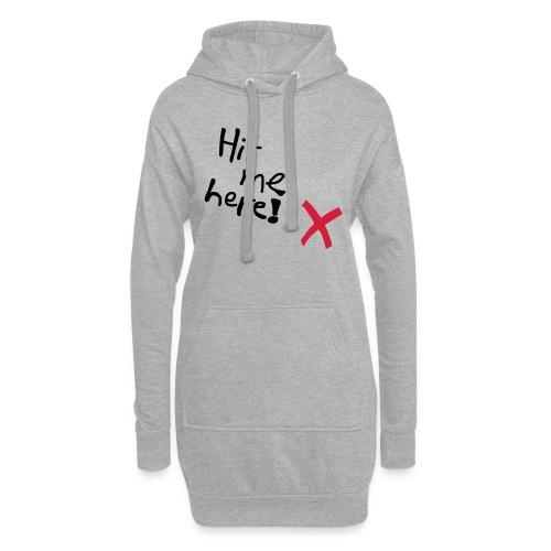 Hit me! - Hoodie-Kleid