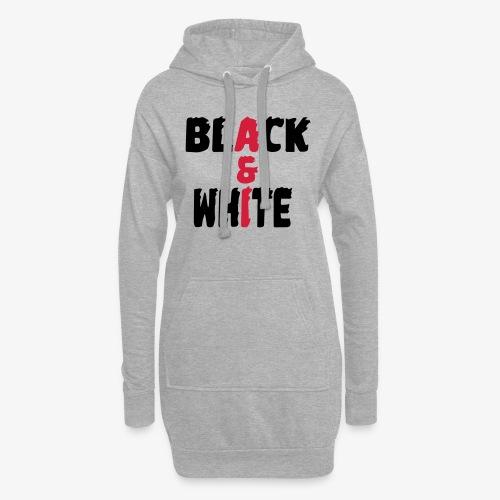 black et white - Sweat-shirt à capuche long Femme