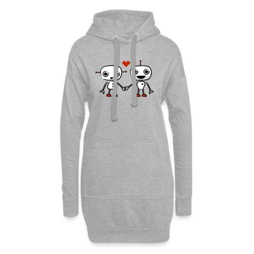 binary love red heart - Hoodie Dress