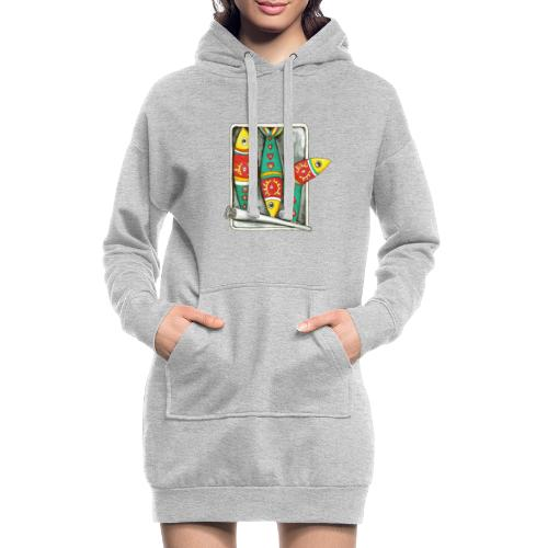 Les sardines du Portugal - Sweat-shirt à capuche long Femme